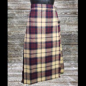 Glenisla Classics Wool Plaid Skirt Vintage 1970's
